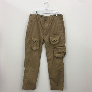 Polo by Ralph Lauren Tan Cotton Cargo Pants